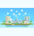 eco-friendly city - modern flat design style vector image