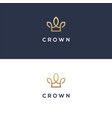 elegant linear crown logo vector image