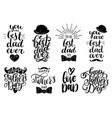 fathers day holiday calligraphy collection vector image vector image