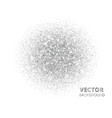 festive silver sparkle background glitter circle vector image vector image