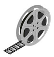 film reel and cinema tape with sunset and vector image