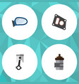 flat parts set of absorber gasket conrod and vector image vector image