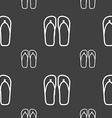 Flip-flops Beach shoes Sand sandals icon sign vector image vector image