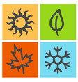 four season icon vector image vector image