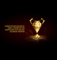 golden low poly champion league cup banner vector image vector image
