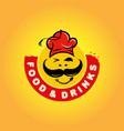 hat turkish chef food and drinks modern logo vector image