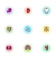 Human organs icons set pop-art style vector image vector image