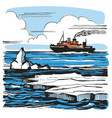 iceberg sketch cartoon landscape vector image vector image