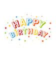 Inscription happy birthday