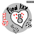 key with locker vector image