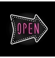 Light neon open label vector image vector image