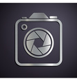 logo metal camera vector image