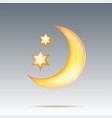moon and stars in midnigh vector image vector image
