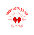 mother s day card with bow and ribbon vector image vector image