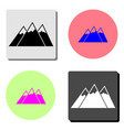 mountain flat icon vector image
