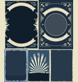 nautical and marine vintage backgrounds set vector image vector image