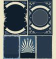 nautical and marine vintrage backgrounds set vector image