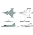 new brazilian military fighter plane colored vector image vector image