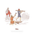 noah building ark myth legend bible story plot vector image vector image
