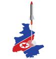 North Korea Rocket vector image vector image