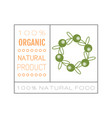 organic food badge label for healthy eating vector image vector image