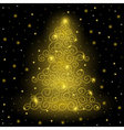 Original Golden Christmas tree vector image vector image