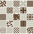 ornamental seamless backdrops set geometric vector image vector image