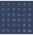 Outline icon collection - Flower and Gardening vector image