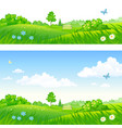 park backgrounds vector image vector image