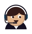 person operator headset man vector image