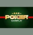 poker word text logo banner postcard design vector image vector image