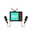 quiz on tv icon vector image vector image