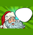 santa claus cartoon bubble christmas greeting vector image