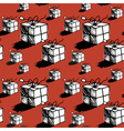 Seamless christmas gift box pattern doodle style vector image vector image