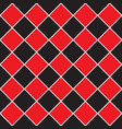seamless - red black rhombus pattern vector image vector image