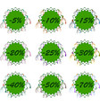 set of discount spring stickers for sale vector image vector image
