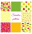 Set of seamless patterns for Easter design vector image