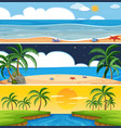 set of summer beach landscape vector image
