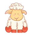 Sheep character of chinese new year symbol vector image