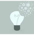 Snowflake a bulb2 vector image vector image