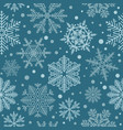 snowflake seamless pattern vintage winter vector image vector image