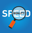 speed and quality select between cost efficiency vector image vector image
