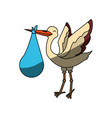 stork bird cartoon vector image