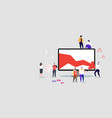 stressed businesspeople stopping economic arrow vector image vector image
