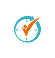 time management logo design template vector image