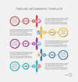 timeline design your company history vector image vector image