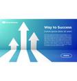 way to success - web template business arrow