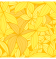 Yellow leaves seamless background vector image vector image