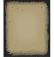 Grunge frame isolated vector image