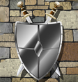 swords on the wall vector image